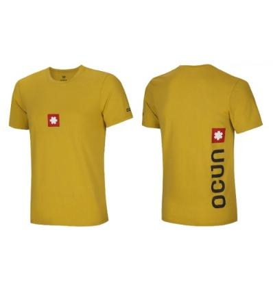 Ocún, LOGO TEE men - Oil yellow, M