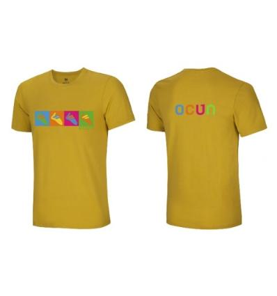 Ocún, Pop Art Shoes TEE men- Oil yellow, S