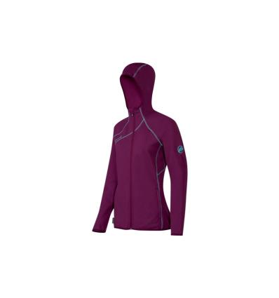 Mammut, Get Away Hooded Jacket Women, EU S, amarante melange