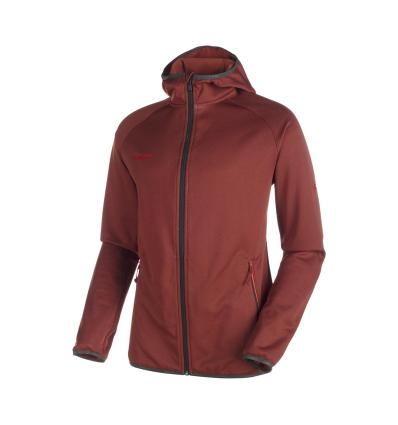 Mammut, Go Far ML Hooded Jacket Men, EU XL, maroon melange