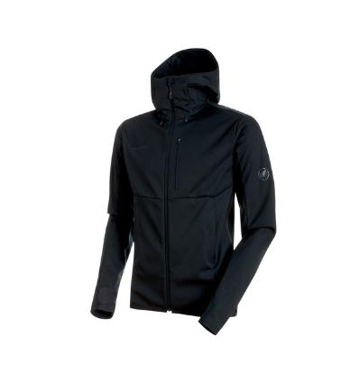 Mammut Ultimate V SO Hooded Jacket Men EU L / black-black