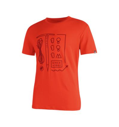 Mammut, Sloper T-shirt Men, EU L, dark orange-maroon