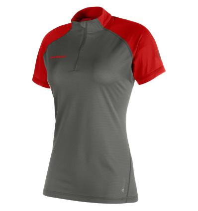 Mammut, Illiniza Light Zip T-shirt Woman, EU L, titanium-lava