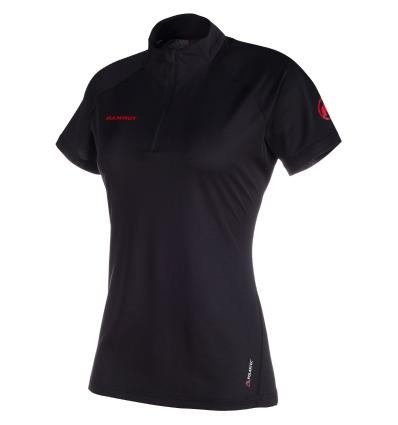 Mammut, Illiniza Light Zip T-shirt Woman, EU XS, black