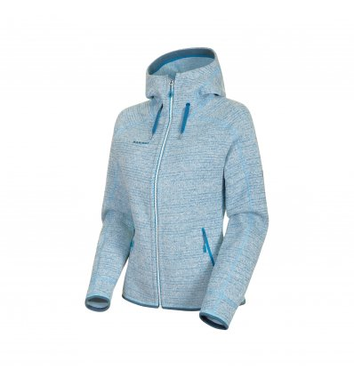 Arctic ML Hooded Jacket women / bright white-sapphire melange
