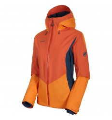 Mammut Casanna HS Thermo Hooded Jkt Wmn / pepper-cheddar-wing teal